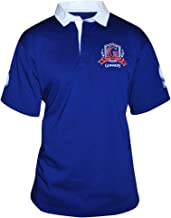 Guinness Men's Blue Short Sleeve Rugby Shirt with Red Logo