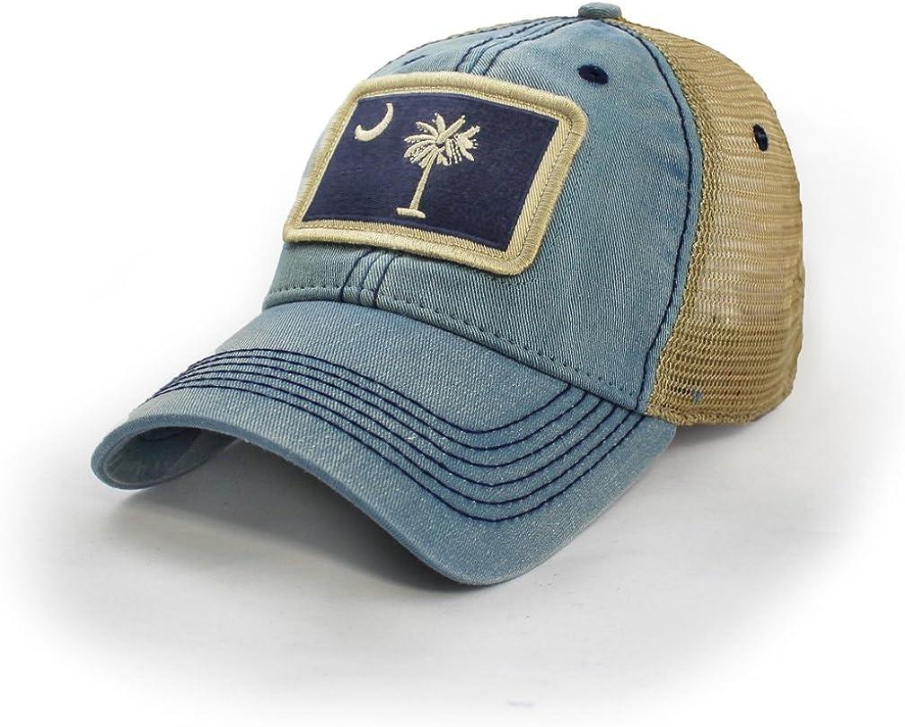 South Carolina Flag Patch Trucker Hat, Americana Blue
