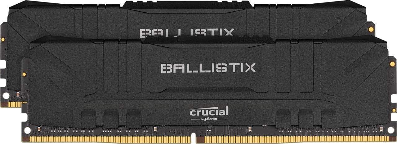 Crucial Ballistix BL2K8G36C16U4B 3600 MHz, DDR4, DRAM, Memoria Gamer para Ordenadores de sobremesa, 16GB (8GB x2), CL16, Negro
