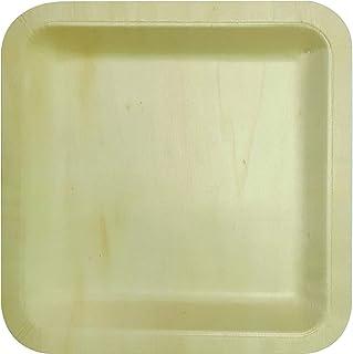 Procos 90799 Square Wooden Plates Plates