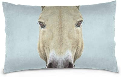 LoveBea Pillow Covers Portrait Of Wild Horse Print Cool Pillowcases Zipper Bed King Pillow Cases Set