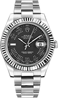 Rolex Oyster Perpetual DateJust II 116334 Grey Roman Numeral Dial Mens Watch
