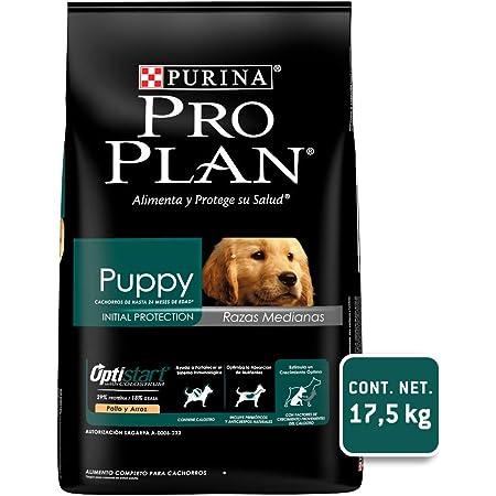 Pro Plan Puppy Razas Medianas con OptiStart, Sabor Pollo, 17.5 kg, 1 Piece