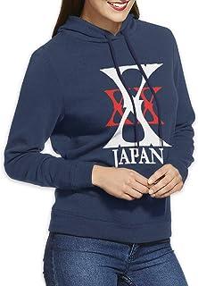 X JAPAN バンド スウェットパーカー 個性的 カジュアル スリーブ フード付き 長袖 コスチューム プリント サイズ選択可 プルオーバー レディース