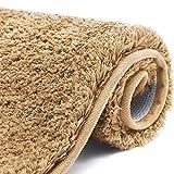 Color&Geometry rutschfeste Badematte 50 x 80 cm, Badteppich, Badvorleger, maschinenwaschbare Fußmatte Bodenmatte mit weicher Mikrofaser für Bad, Toilette, Küche, Schlafzimmer (Beige)