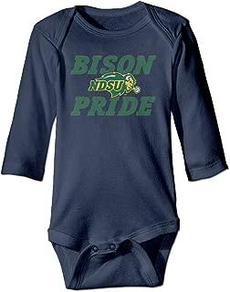 Unisex Baby Bison Pride NDSU Baby Onesies Long Sleeve Bodysuit