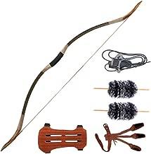 IRQ Traditional Handmade Longbow Horsebow,Hunting Archery Bow,Recurve Bow Set 30lbs-50lbs