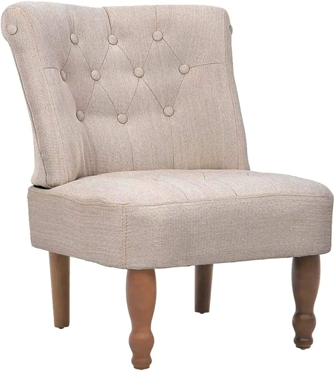 Festnight French Dining Chair Retro Style Dining Room Furniture Creme