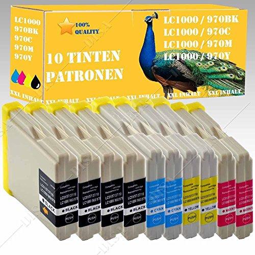 10 x Tintenpatronen kompatibel zu LC 970/LC1000 Brother MFC Serie MFC-230C / MFC-235C / MFC-240CN / MFC-260C / MFC-440CN