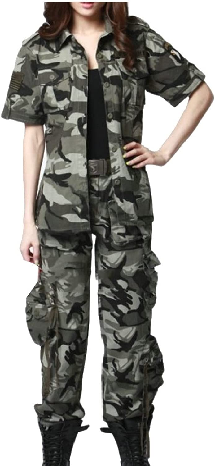 Gocgt Women's Military Army Classic Thicket Digital Camouflage Uniform