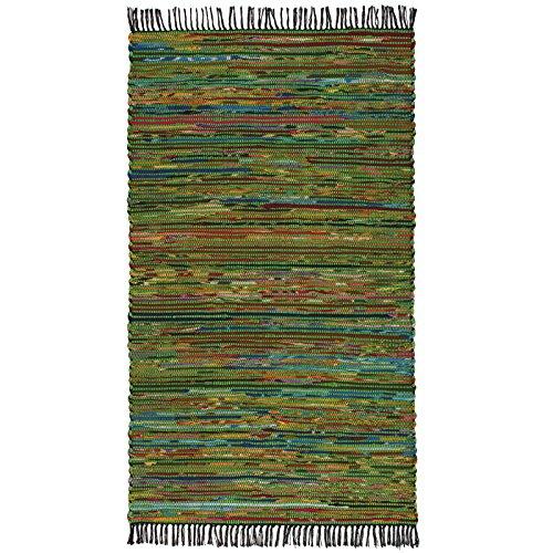 Indian Arts Fair Trade - Alfombra de trapo indio, hecha a ma
