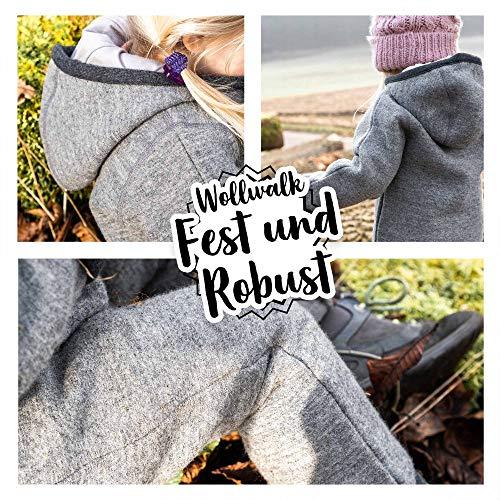 Ehrenkind® WALKOVERALL   Baby Wollwalk-Overalls aus Natur Schurwolle mit Reißverschluss   Walk Wolle Woll-Anzug für Kleinkind und Baby   Blau Gr. 74/80 - 6