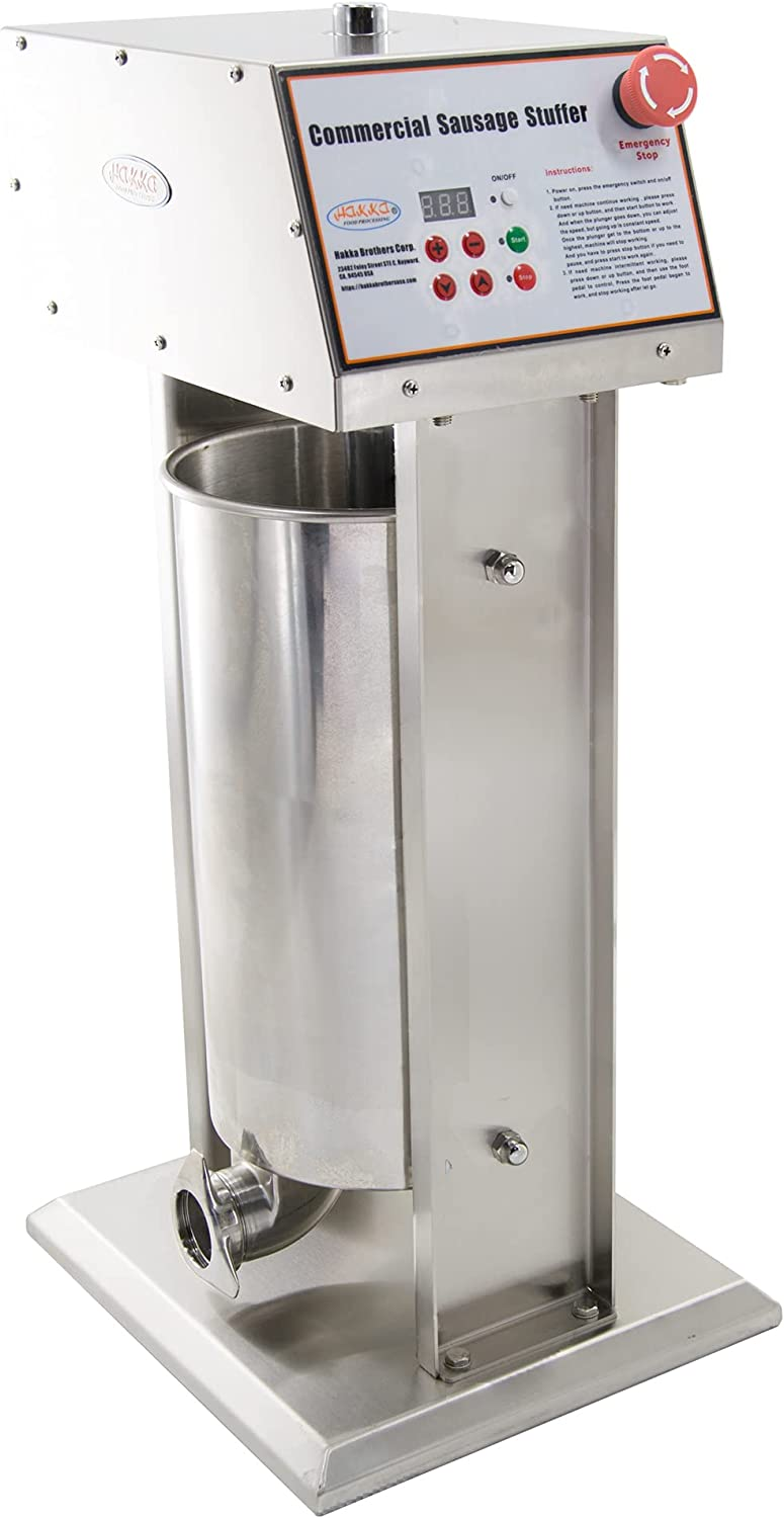 Hakka Commercial 30LB All stores are sold Daily bargain sale Stainless Steel a Sausage Electric Stuffer