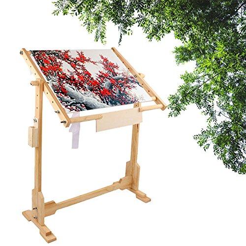 Rahmen-Boden, Rahmen-Boden für Stickerei, Quilten, Kreuzstich, Stickerei, Malerei auf Seide, 50cm/80cm/100cm 50cm