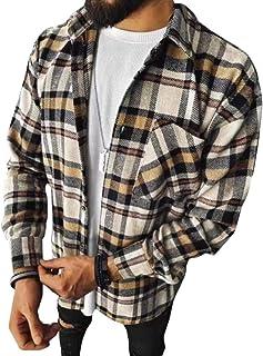 Minetom Camisas A Cuadros De Franela para Hombre Blusa De Manga Larga Cuadros Clásicos Blusas Camisa De Leñador