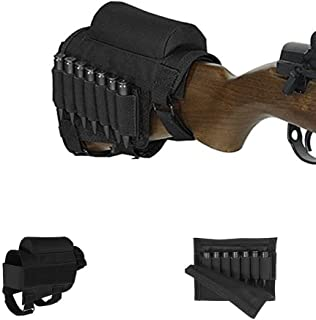 Pure Direct Rifle Cheek Riser, Tactical Rifle Buttstock Cheek Rest Pad with 7 Rifle Stocks Holder for 308 - .300Winmag