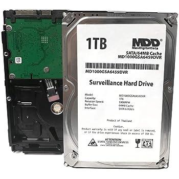 "MaxDigitalData 1TB 64MB Cache 5900PM SATA 6.0Gb/s 3.5"" Internal Surveillance CCTV DVR Hard Drive (MD1000GSA6459DVR) - w/ 2 Year Warranty"