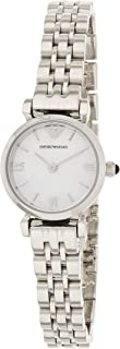 Emporio Armani Women's Analogue Quartz Watch With Stainless Steel Strap Ar1763, Silver Band