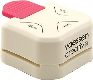 Vaessen Creative Perforadora de Papel 3 en 1, Para Redondear Esquinas, Para Proyectos DIY, Scrapbooking, Creación de Tarjetas y Más