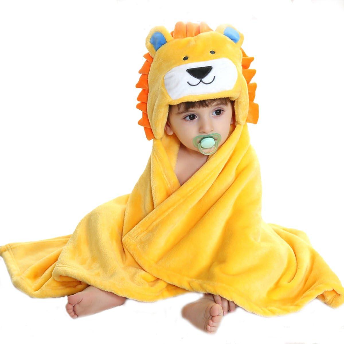 DEBAIJIA Infantil Albornoz 0-14T Beb/é Bata de Ba/ño Reci/én Nacido Casa Noche Ropa de Dormir Ni/ños Pijama Camisones Ni/ño Ni/ña Unisexo Franela