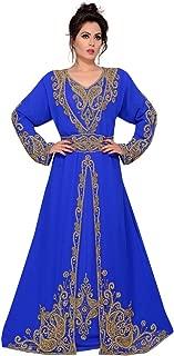 Arabic attire Women's Muslim Wedding Abaya Kaftan Long Sleeve Designer Moroccan Style