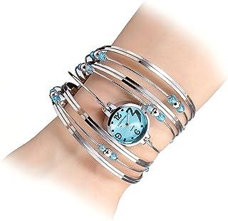 Womens Quartz Bracelet Watch Fashion Analog Multilayer Stainless Steel Ladies Jewelry Watches Women Wristwatch on Sale