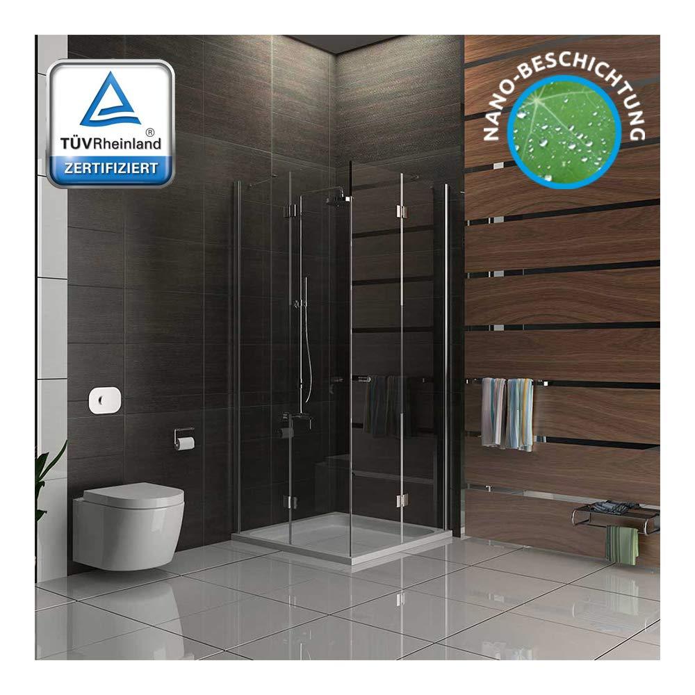 Cabina de ducha 100 x 100 easyclea puertas de Alpes Berger cuadro de entrada por la
