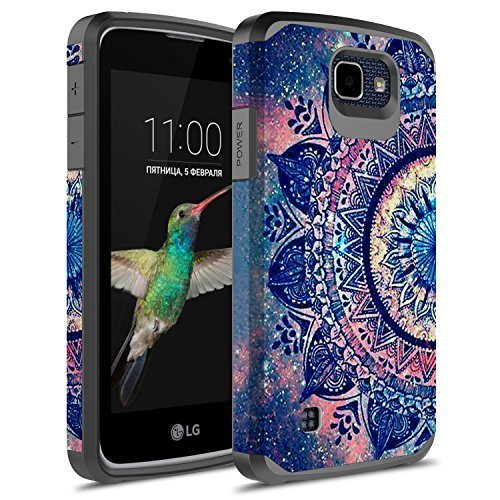 LG K4 Case, LG Optimus Zone 3 Case, LG Spree Case,LG Rebel LTE Case, kaesar Slim Hybrid Dual Layer Armor Defender Protective Cover for LG Optimus Zone 3 / LG K4 / LG Spree/LG Rebel (Slim Mandala)