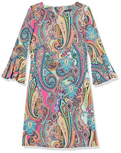 Tommy Hilfiger Women's Sleeve Dress, Bright Pink Multi, 12
