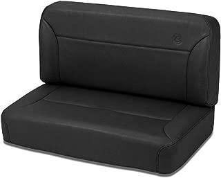 Bestop 39437-15 TrailMax II Black Denim All-Vinyl Fixed Rear Bench Seat for 1955-1995 CJ5, CJ7 and Wrangler YJ