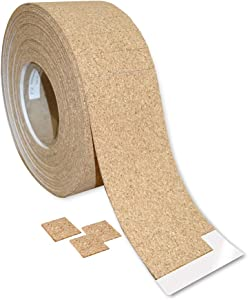 Frank Lowe Cork with Removable Adhesive Separator & Shipping Pads for Glass, Mirrors & Windows (1/8 x 1 x 1)