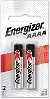 Energizer Alkaline Batteries AAAA (2 Battery Count) - Packaging May Vary