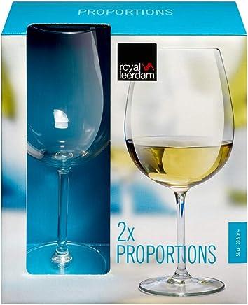 Jogo de 2 Taças para Vinho Royal leerdam Transparente 580Ml