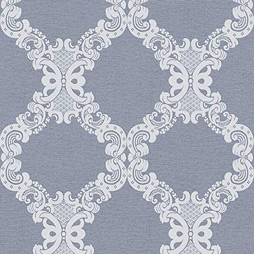 Barock-Tapete Ornament-Tapete Tapeten Wohnzimmer Blau Grau Vliestapete Blau Grau 360906 | Jetzt Tapeten kaufen