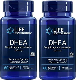 DHEA (Dehydroepiandrosterone) 100 mg, 60 Vegetarian Capsules-Pack-2