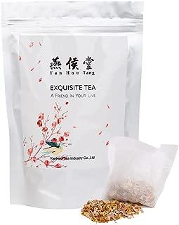 Yan Hou Tang Organic Taiwan Osmanthus Foshou Gan Bergamot Gui Hua Dried Orange Peel Herbals Tea Bags - 50 Counts 200 gram Fragrances Flower and Fruit Nature Spice Soothing Sore Throat Cough