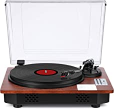 Record Player with Speakers Turntable for Vinyl Records Bluetooth Input & Output USB Direct Vinyl to MP3 Recording Pitch &...
