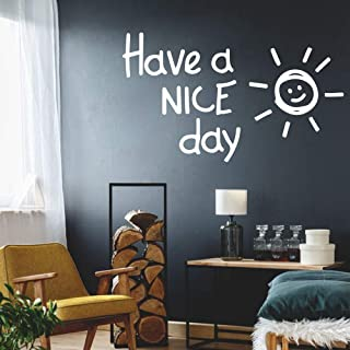 gaoeer Motivational Wall Sticker Quotes Lovely Sunshine Quote Have A Nice Day Phrase Decor for Kids Rooms Bedroom Decoration Decal Murals