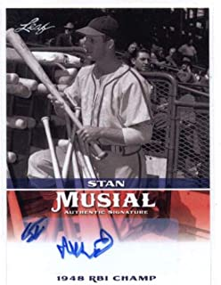 1948 leaf stan musial baseball card