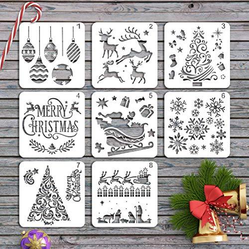 Plantillas de Dibujo de Navidad,Plantillas de Escala,Plantillas navideño,Christmas Plantillas Dibujo,kit de dibujo...