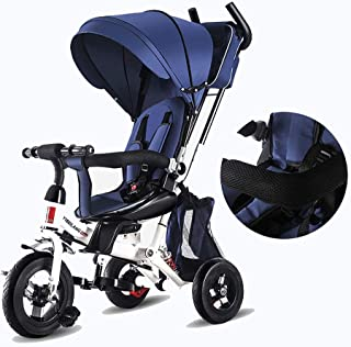 Children's Tricycle Kids Tricycle 7-in-1 Baby Trike Tricycle With Push Handle/Wheel Clutch/Rotating And Reclining Seat For Children To Sleep In For 1-6 Years Old Kids Children's Walker Kids Trike