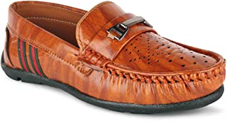 RUNNING WALK Designer Ultra Comfort Synthetic Leather Casual Loafers for Boys and Kids