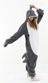 Pijama Onesie Adultos Pijamas para Adultos, Disfraz de Cosplay, Mono de tiburón Gris, Ropa de Dormir, Pijamas Unisex