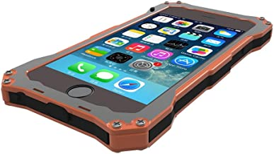 S.CENG Aluminum Dual Layer Protective Case with Silicone Screen Protector for iPhone 6 4.7 Inch (Orange)