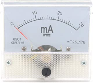 Karcy DC 0-30mA Rectangle Analog Panel Ammeter for Auto Circuit Or Other Voltage Measurement Devices Ampere Tester Gauge