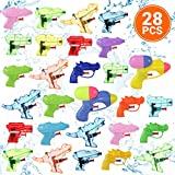 Small Water Squirt Guns for Toddlers and Kids, 28 Pcs. Set of Assorted Mini Blasters and Pistols for Swimming Pool, Beach, and Outdoor Play, Ideal Birthday Party Favors and Water Fight Toy