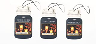 Yankee Candle Classic Car Jar Hanging Air Freshener Crisp Fall Night (Pack of 3)