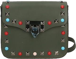 Chicca Borse Clutch Borsetta Borsa a Spalla da Donna con Tracolla in Vera Pelle Made in Italy - 18x15x7 Cm