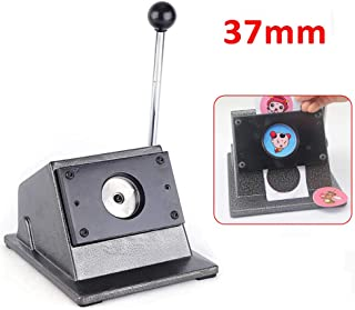 Card Machine TBVECHI 37mm Manual Round Punch Die Cutter Graphic Badge Button Maker Perfect Match DIY Button Badge Making Kit (USA Stock)