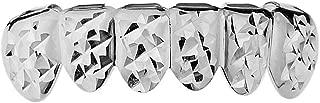 Grillz Diamond-Cut Grill Bottom Lower Six Teeth Silver Tone Hip Hop Grills